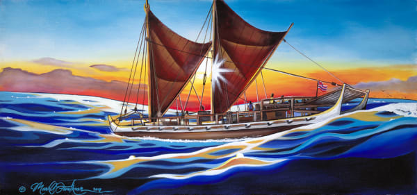 Polynesian Art | Dawn of a New Voyage by Mark Faulkner