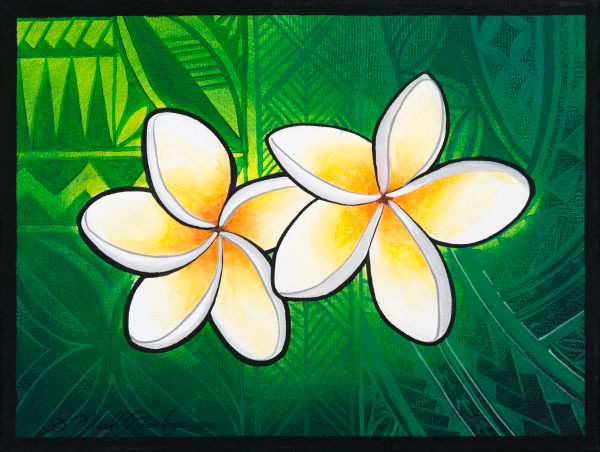 Polynesian Art | Plumeria Twins by Mark Faulkner