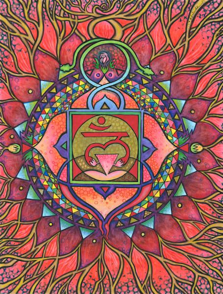 root chakra art mandala