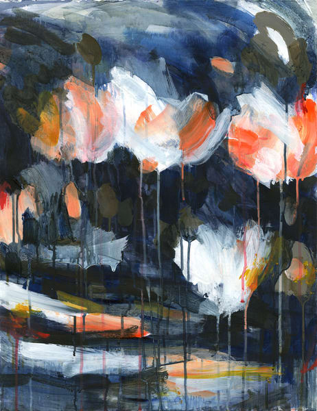 Mud & Peonies I   Canvas Art | Caroline Wright Art