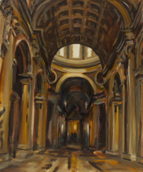 "Prints of ""Destination: Saint Peter's"" oil painting by Michelle Arnold Paine"