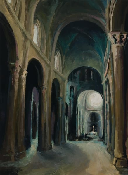 Siena Cathedral Interior Painting by Michelle Arnold Paine