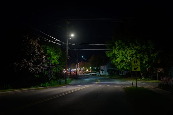 Photography, Vermont, nocturne, Bristol, nightscape, New England