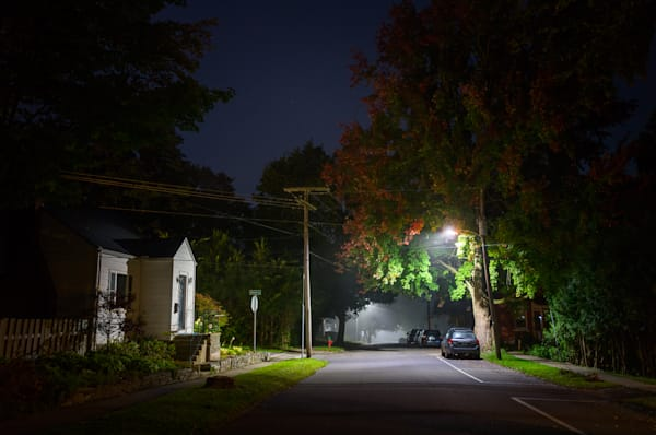 Photography, Vermont, nocturne, Vergennes, New England, nightscape, neighborhood