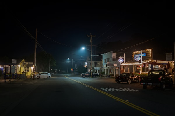 nocturne, photography, stinson beach, highway 01, california, nightscape