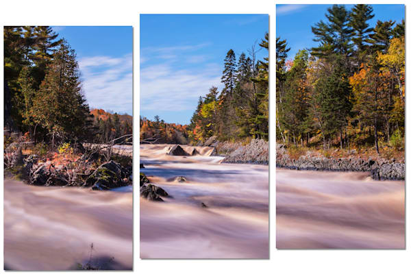 3-Piece Scenic Canvas Wall Art - Autumn Flow | William Drew Photography