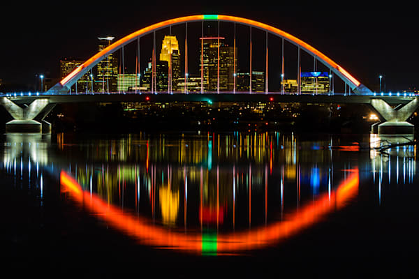 Lowry Bridge Halloween Pumpkin - Minneapolis Skyline | William Drew