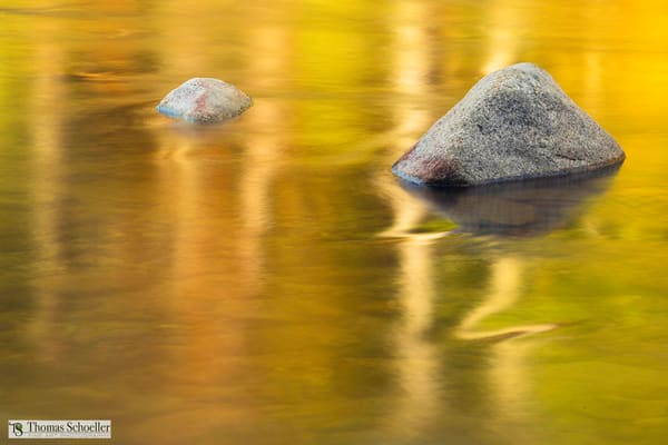 Ethereal abstract fine art nature-inspired autumn photography prints/The Swift River near the Kancamagus Highway New Hampshire