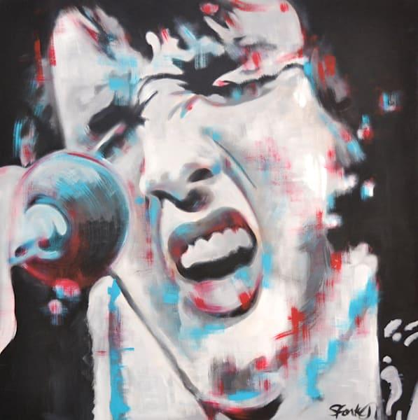 Elvis Portrait Art by Steph Fonteyn