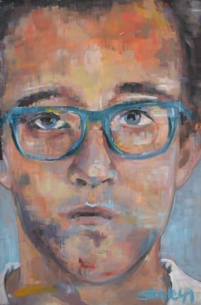 Keith Haring Original Painting by Portrait Artist Steph Fonteyn