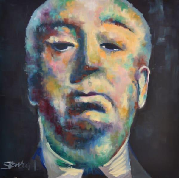 Alfred Hitchcock Portrait by Pop Artist Steph Fonteyn