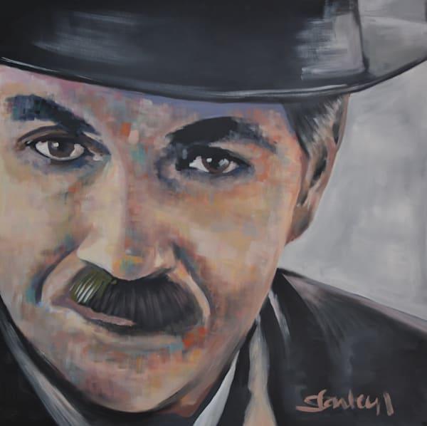 Charlie Chaplin Portrait Art by Steph Fonteyn