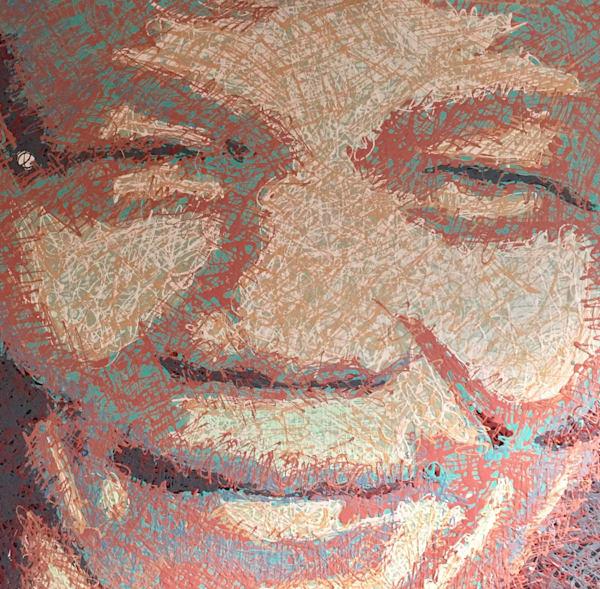 Nelson Mandela Drip Painting by Steph Fonteyn