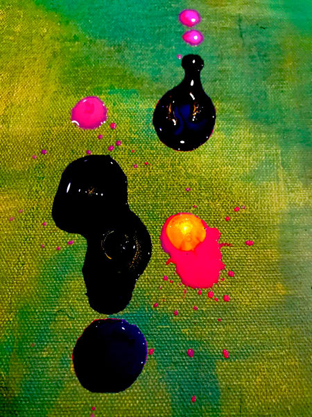 Odeta Xheka Visuals   Miró inspired hand-stretch canvas print