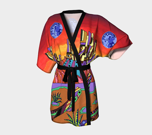 Monument Valley Desert Kimono Robe Sedona