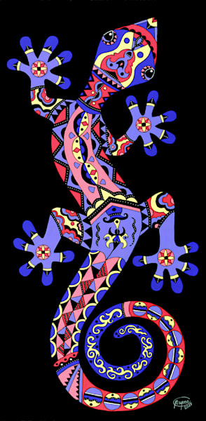 Blue Gecko Art for sale