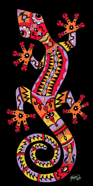Sunset Gecko Art for sale