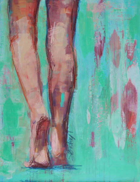 Beach Legs Original Painting by Steph Fonteyn