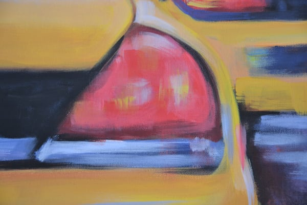 Yellow Cabs Original Painting by Steph Fonteyn