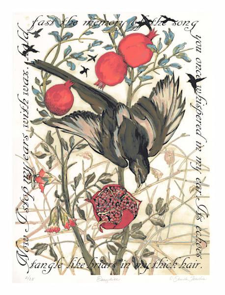 Eurydice, screen print original art by Ouida Touchon, for sale