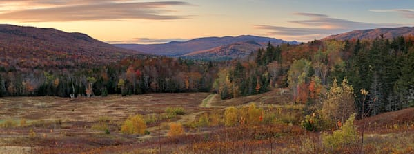 """White Mountains Autumn Sunset"" Rustic New Hampshire Fall Foliage Photography"