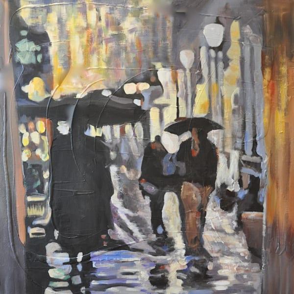 Commute In The Rain Art | Atelier Steph Fonteyn