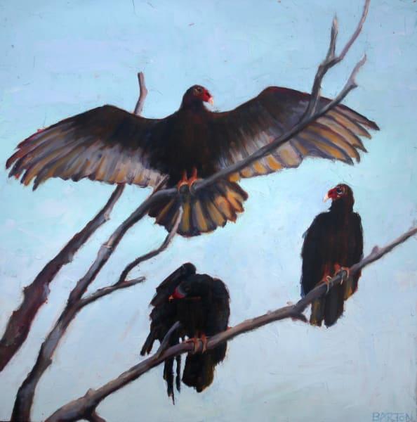 vutlure, wings, tree