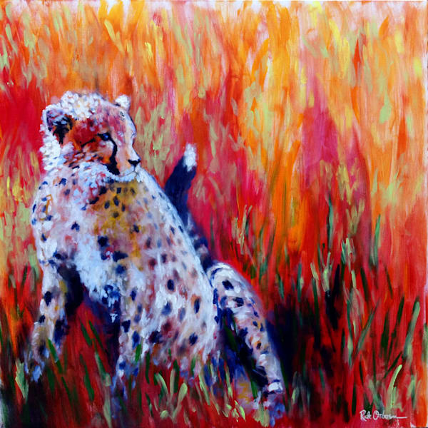The Cheetah | Original Acrylic Painting by Rick Osborn