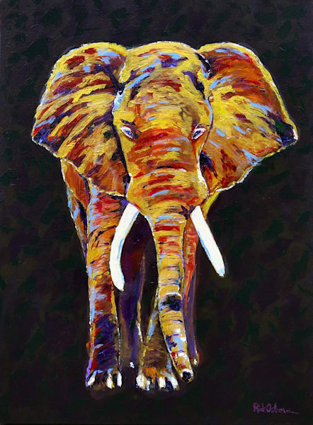 Elegant Elephant | Original Acrylic Painting by Rick Osborn