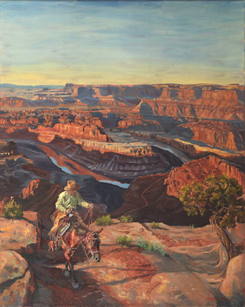 Dead Horse Point from horseback prints