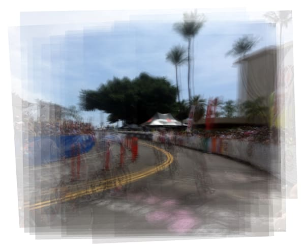 Overlay art – contemporary fine art prints of an ironman triathlon