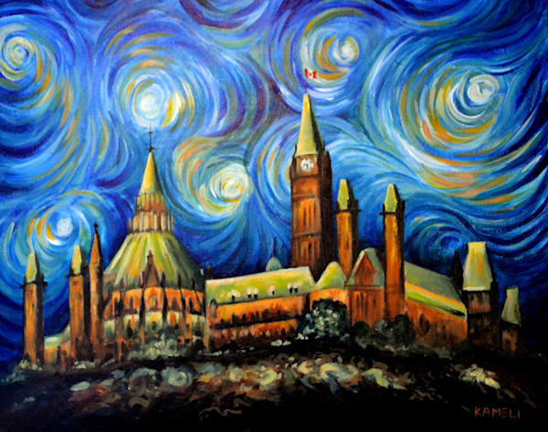 Ottawa Starry Night  Art | kamelifineart