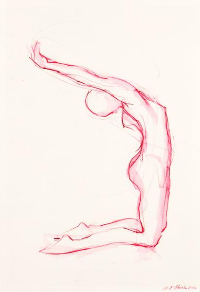 Pink Kneeling Reach Fine Art Print