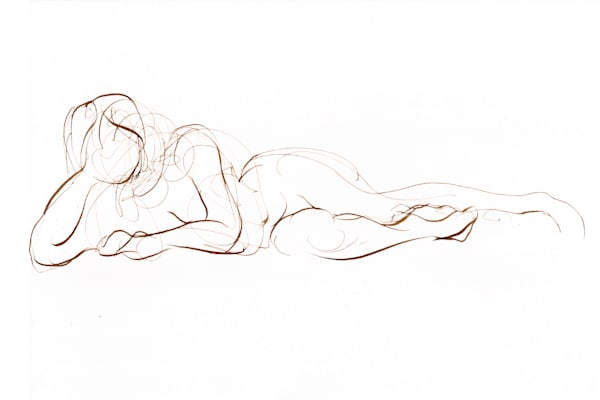 Pen and Ink Gesture Drawing Prints for Sale