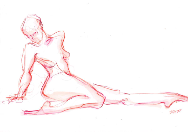 Fine Art Dance Drawing by Michelle Arnold Paine