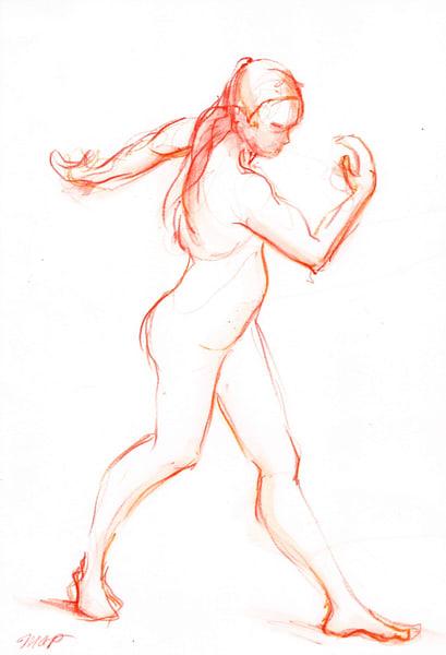 Dancing Figure Fine Art Print by Michelle Arnold Paine