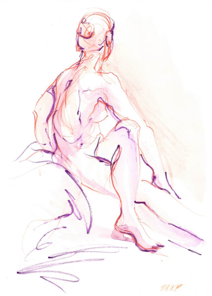 Figure Drawings by Michelle Arnold Paine
