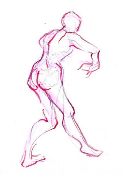 Purple Back Dancing Figure Art Print
