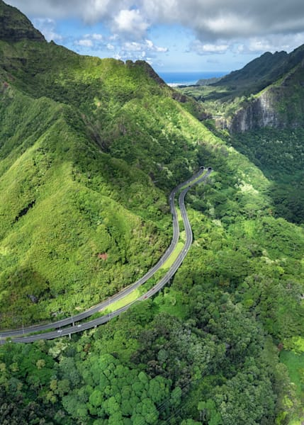 Hawaii Photography | Pali Drive to Town by Peter Tang