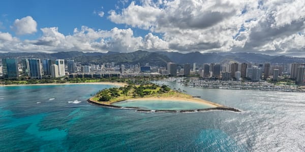 Hawaii Photography | Magic Island From Above by Peter Tang