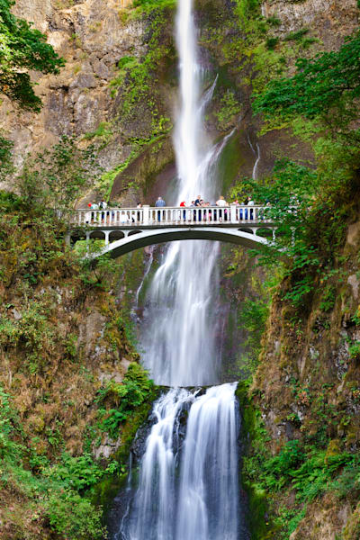 Nature Photography | Bridge of Multnomah Falls by Peter Tang