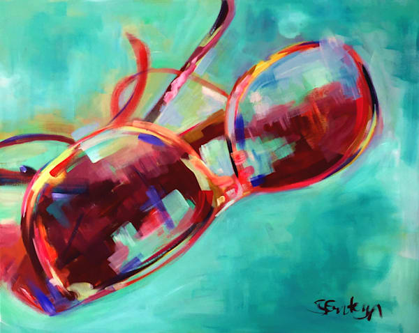 Sunglasses Original Fine Art Painting by Steph Fonteyn