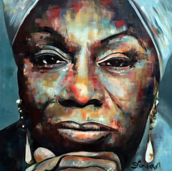 Nina Simone Original Painting by Steph Fonteyn