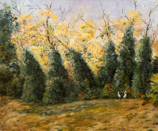 Cranes And Trees Art | markderaudartist