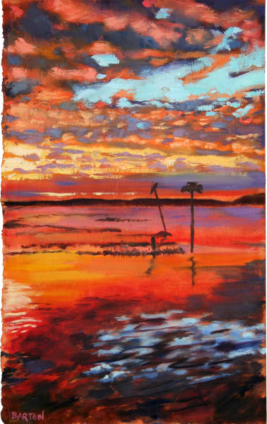 sunset, bay, New Jersey