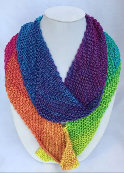 Buy Sandy Cahill'sHandKnittedHandDyedSpectrumColor Scarves