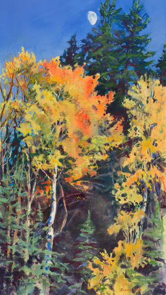 Paintings by Carol Dickie of autumn