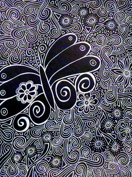 Black and White Butterfly Art For Sale