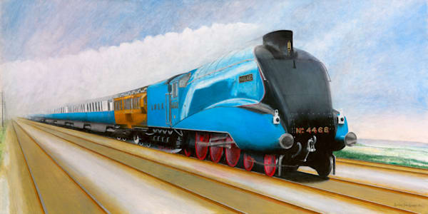LNER Mallard at 126mph Stoke Bank 03-07-1938 - Original