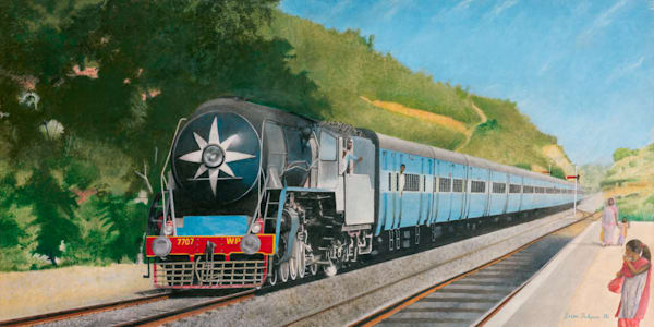 Indian Railways Black Beauty in the Blue - Original